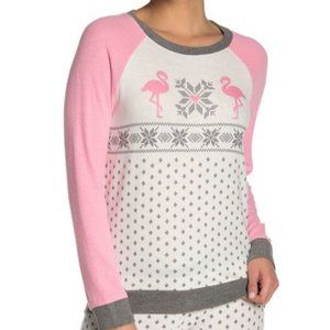 PJ SALVAGE Let's Flamingo Long Sleeve NWT